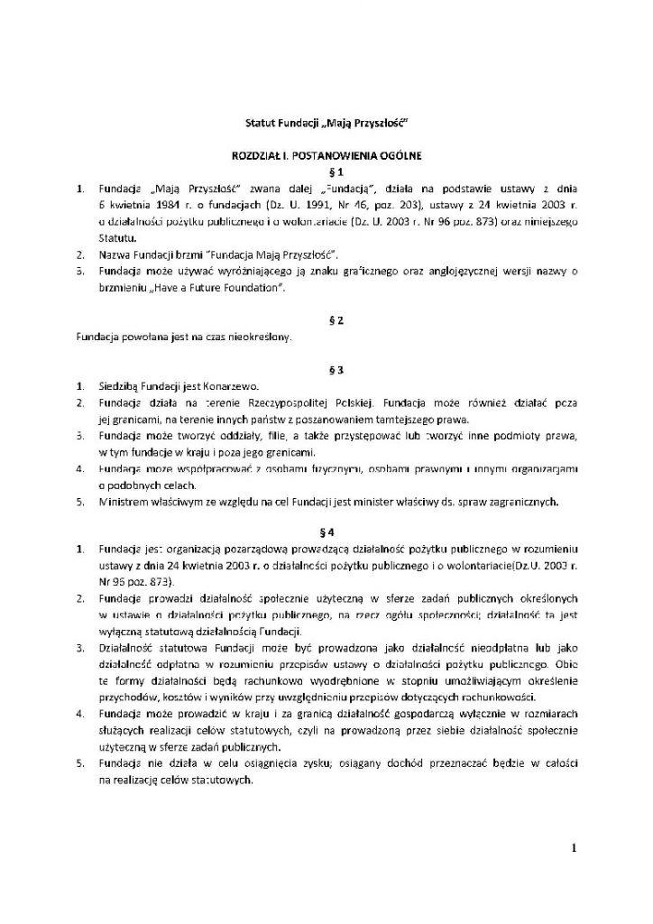 Statut Fundacji Maja Przyszłosc_Page_1