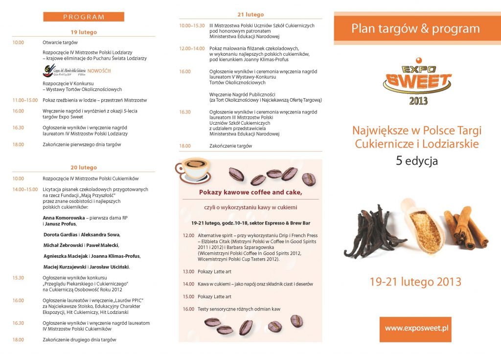 program 19-21lutego Expo Sweet