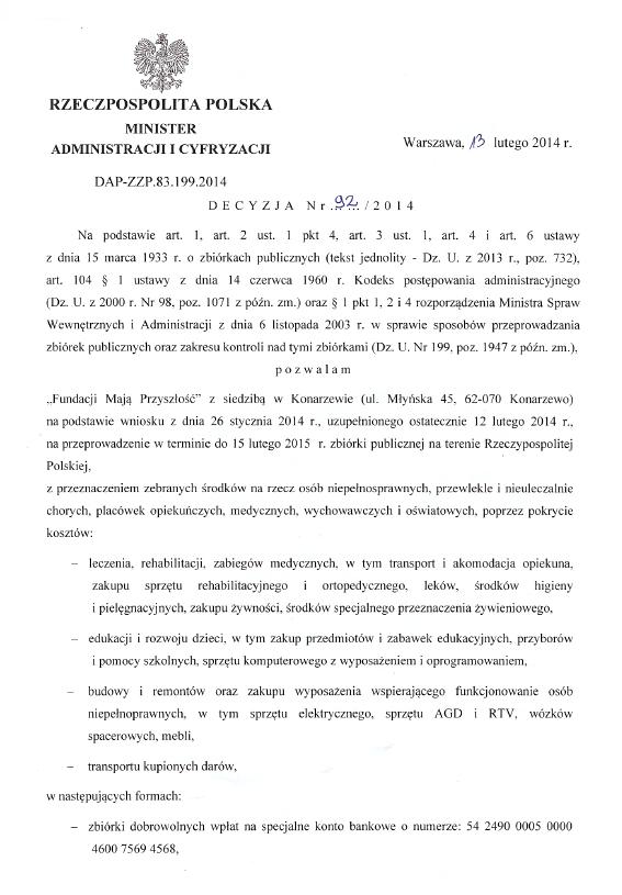 decyzja 92-2014_PL_MAIC_13.02.2014 do 15.02.2015_s1