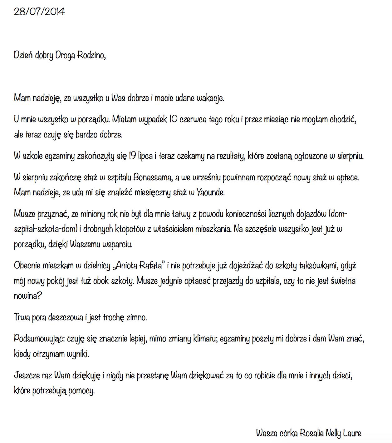 list podopiecznego 1a