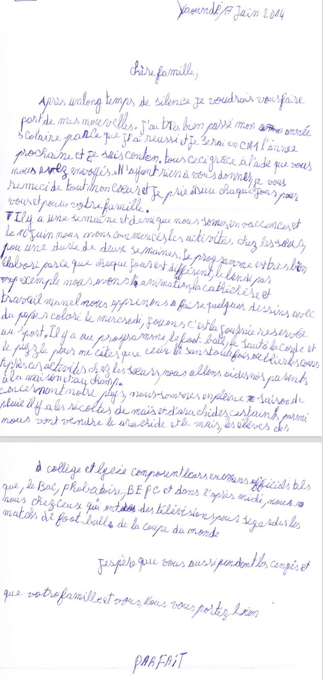 list podopiecznego 3a