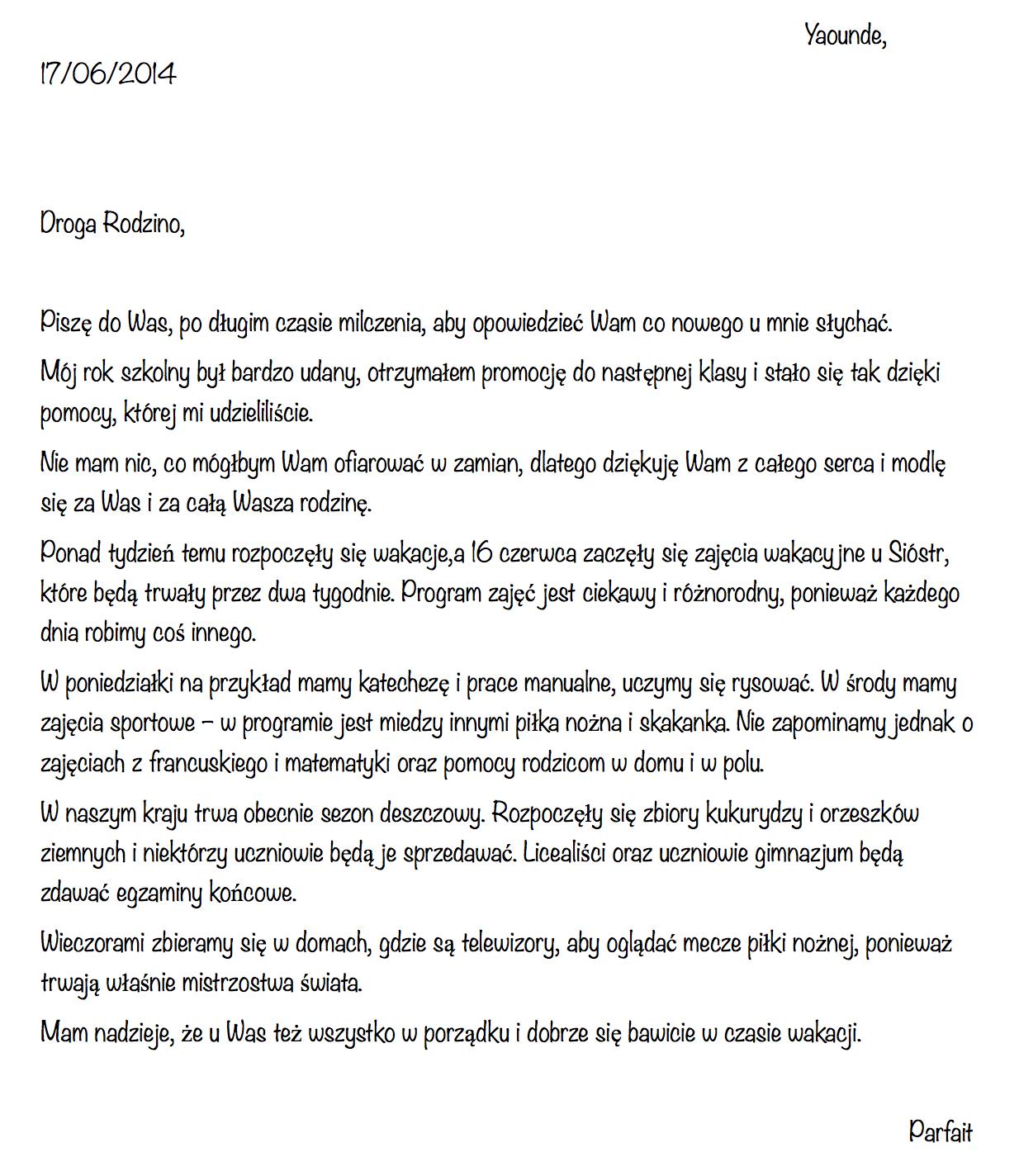 list podopiecznego 3b