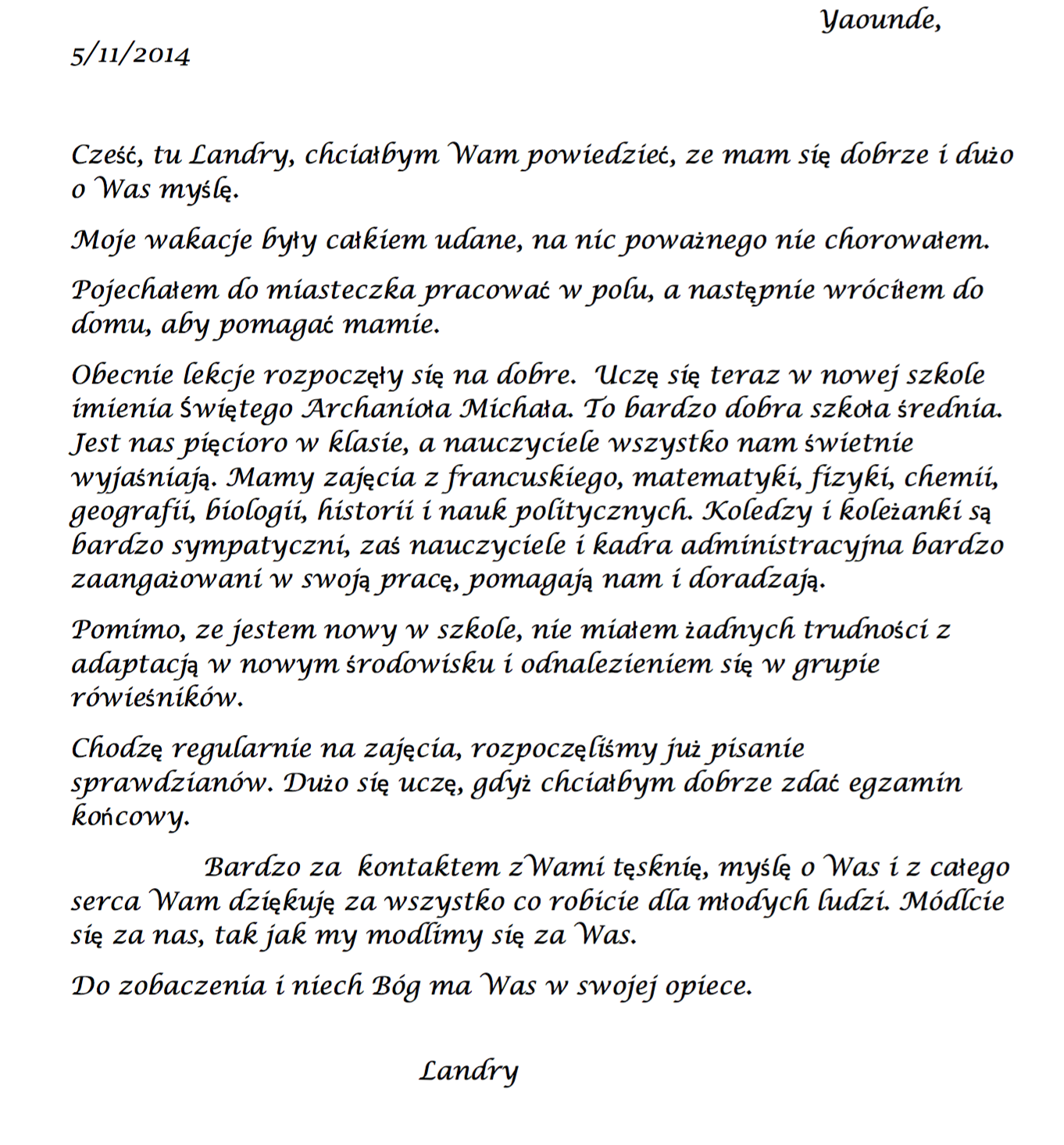 list podopiecznego 4b